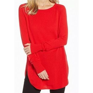 Halogen Cashmere Tunic Sweater